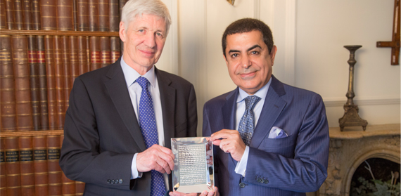 H.E. Mr Al-Nasser and Professor Mike Hardy