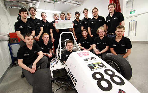 Award helps student racers charge up their Silverstone challenge