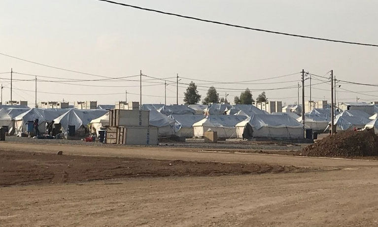 Gawilan Refugee Camp in Erbil Governorate, Kurdistan Region of Iraq, tented shelters for new arrivals, 29 Nov'19