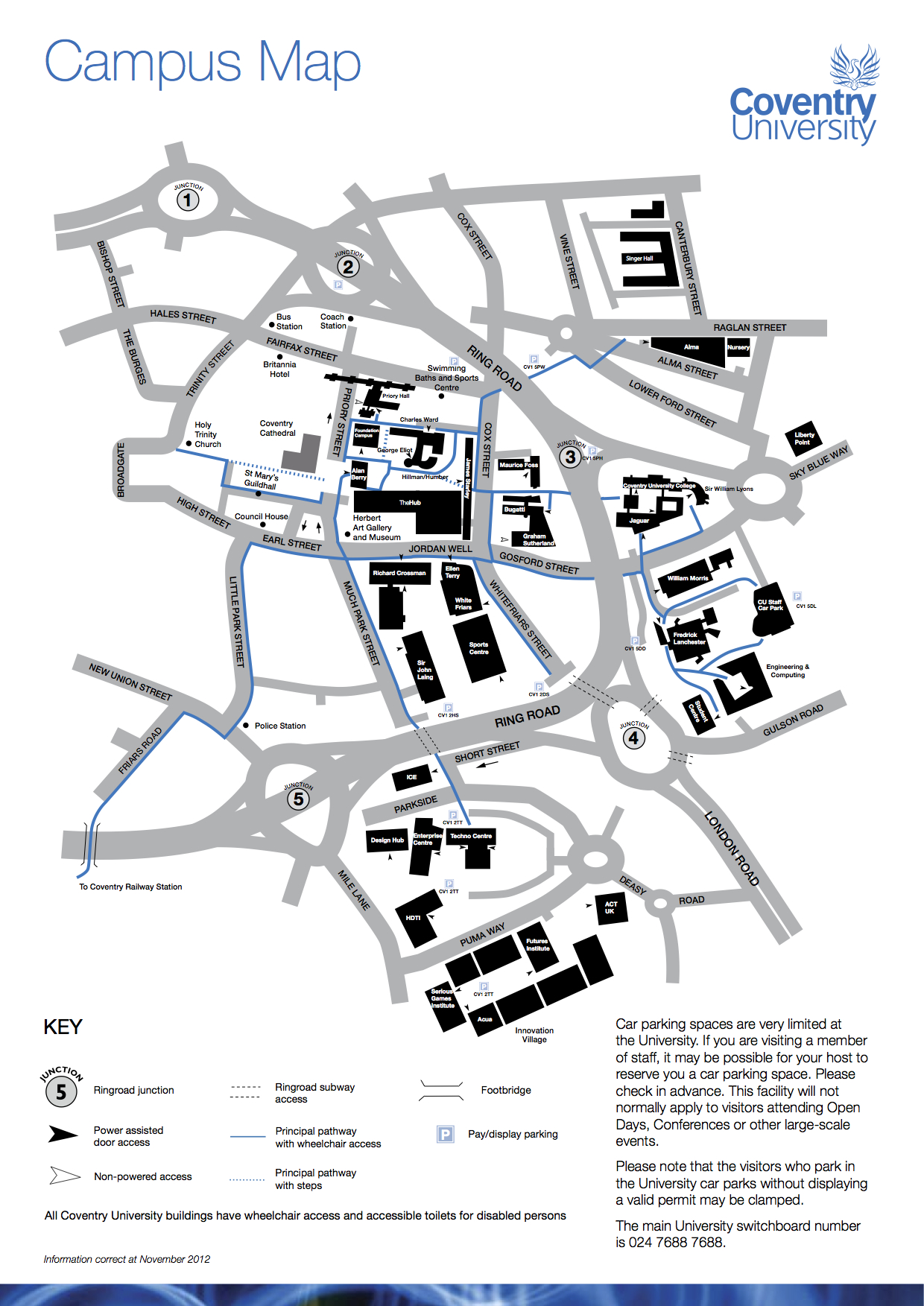 Coventry University Campus Map Welcome to Coventry University! Coventry University Campus Map