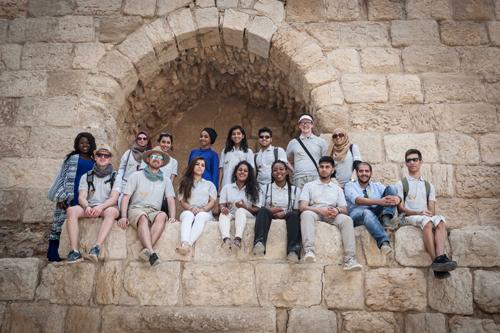 The Changing Lives Programme team at the roman ruins of Karak, Jordan