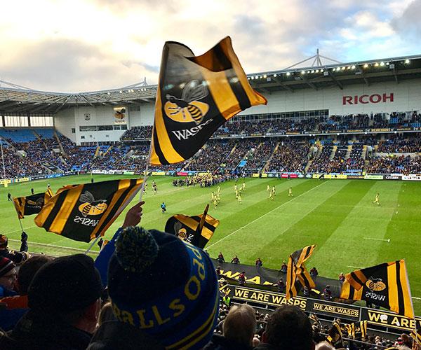 Flags at Wasps v Tigers