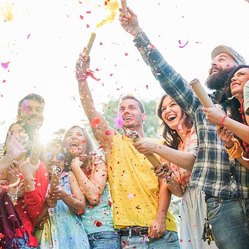 Students-celebrating-outdoors